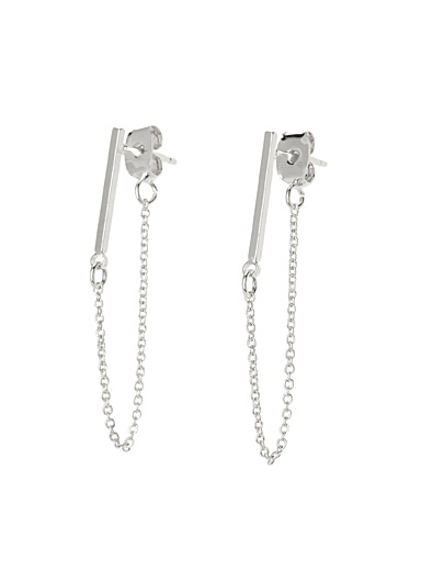 Rods and chains earrings
