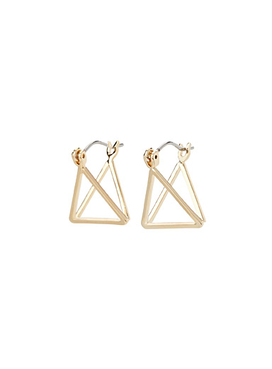 Double-sided triangle earrings