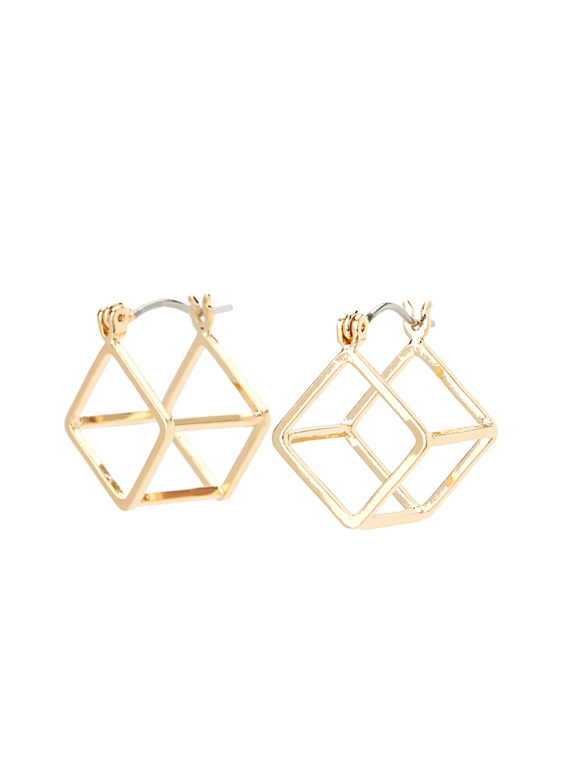 Double-sided cube earrings - Earrings - Assorted