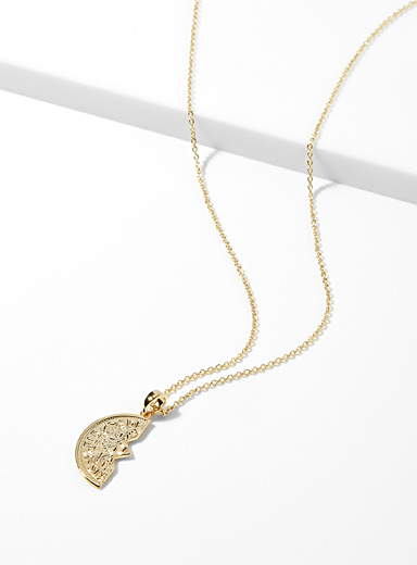 Half-coin necklace