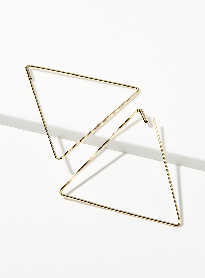 Triangular hoops - Earrings - Assorted