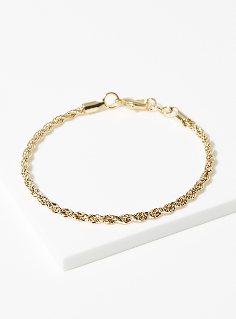 Simons Gold Golden twisted bracelet for women