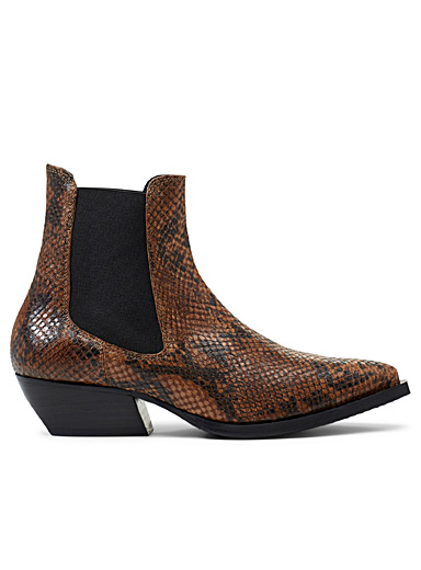 Reptile Chelsea boots