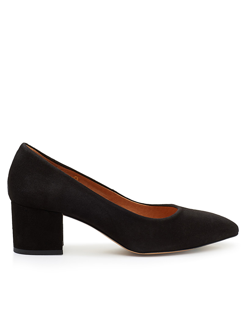 Suede pumps - Heels - Black