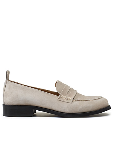 Minimalist suede loafers
