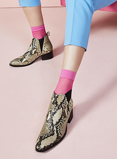 La botte Chelsea serpent