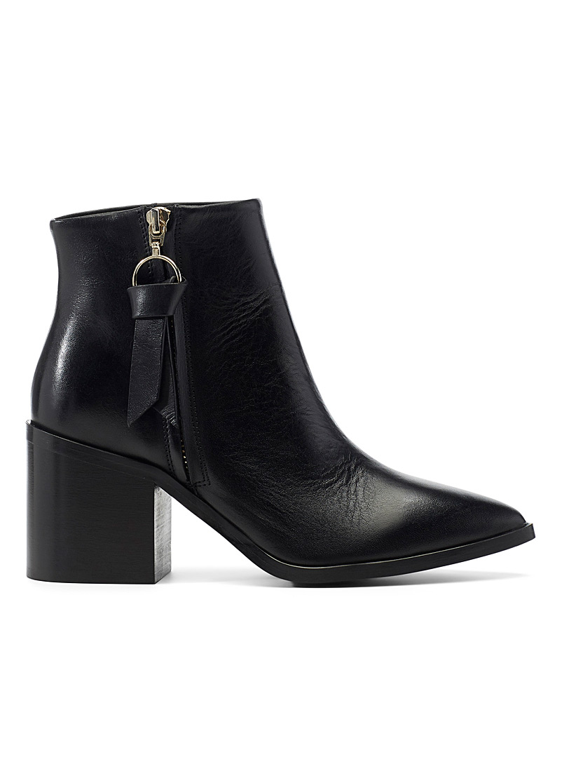 Leather band Chelsea boots - Heels - Black