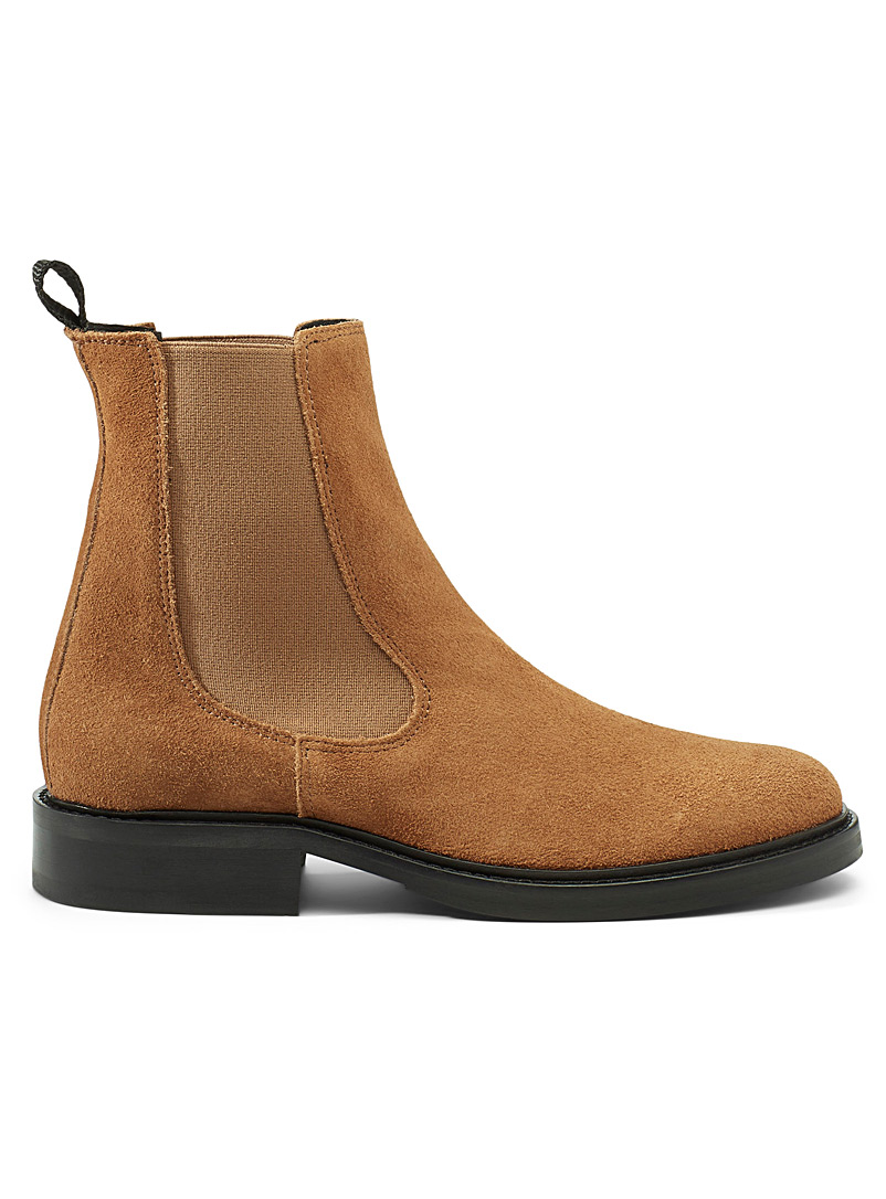 Simons Fawn Flat-heel leather Chelsea boots for women