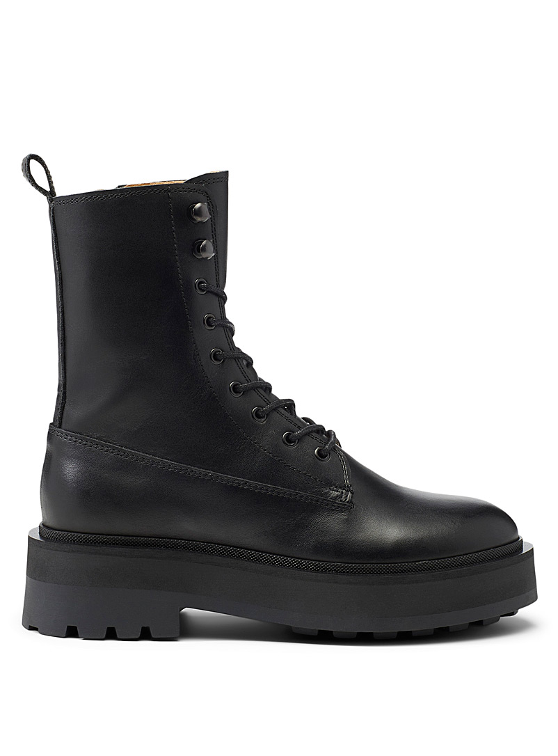 Simons Black Military platform boots  Women for women