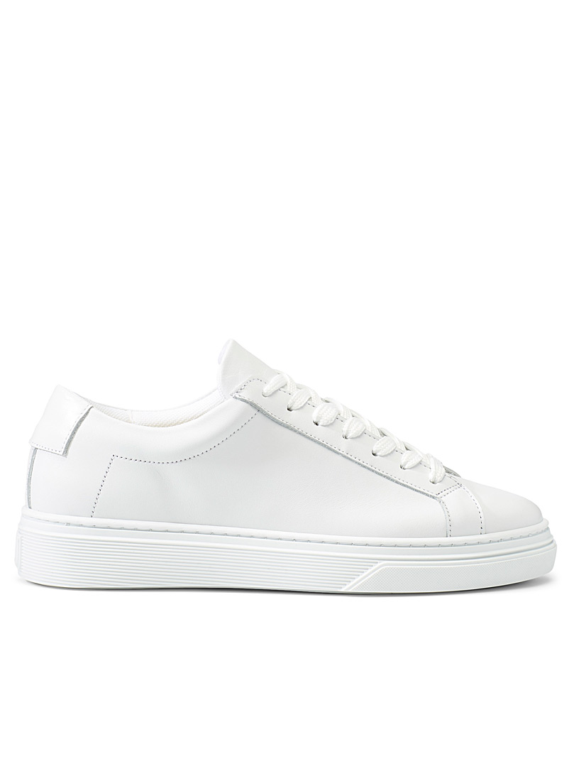 Classic white leather sneakers