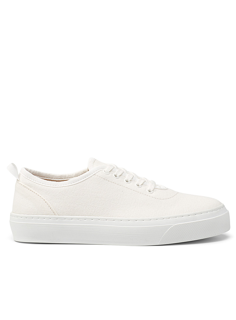 Simons Ivory White Recycled cotton sneakers for women