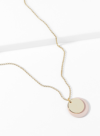 Dancing disc necklace