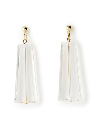 Translucent prism earrings