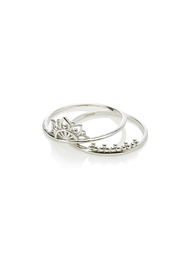 Lotus rings  Set of 2