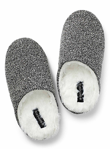 Heather terry mule slippers