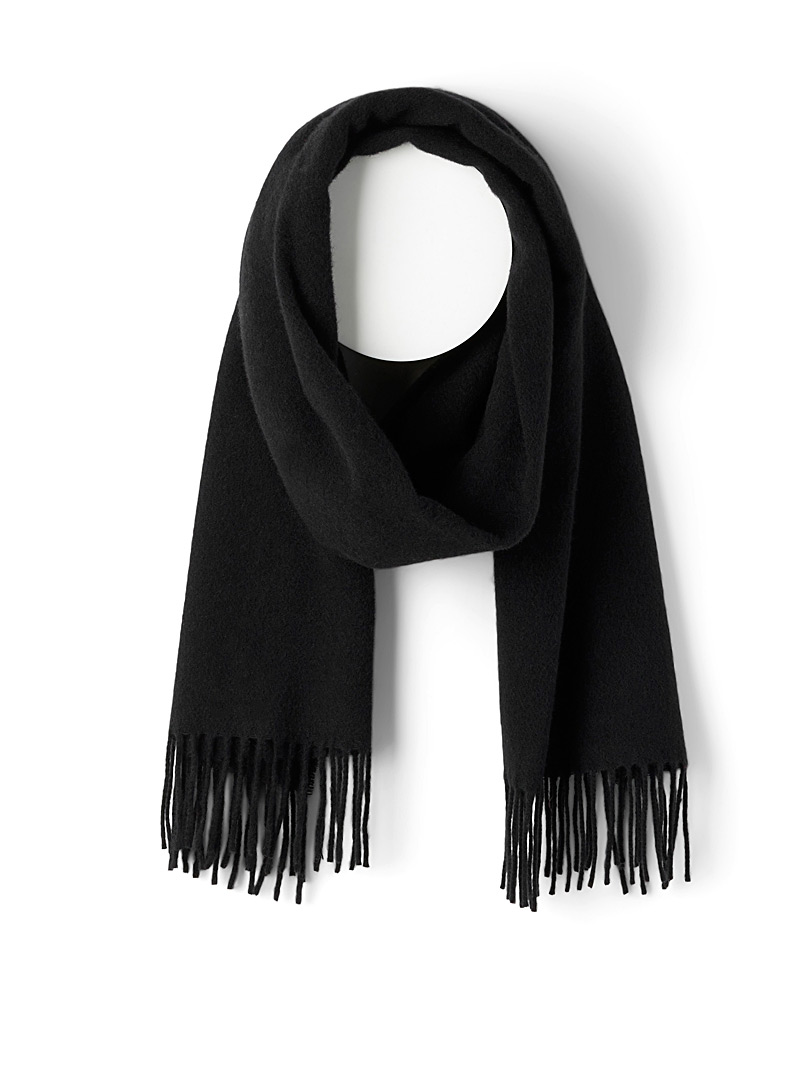 Solid pure wool scarf