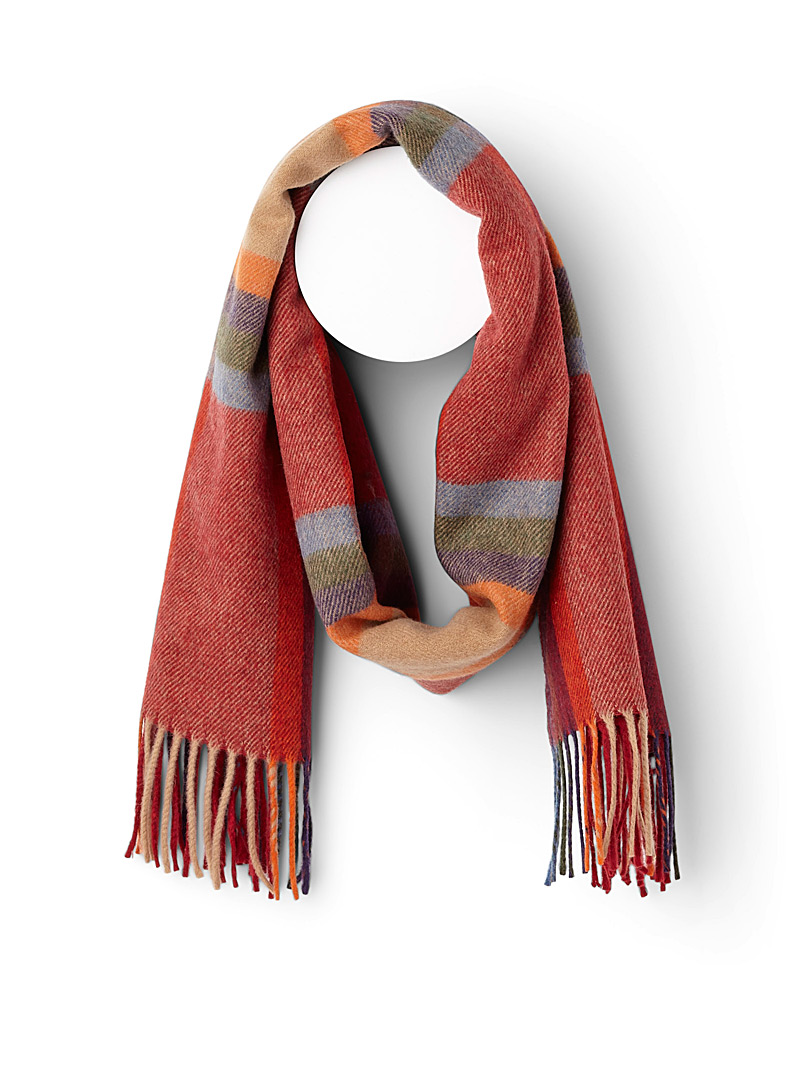 Vibrant colour scarf - Winter Scarves - Patterned Red