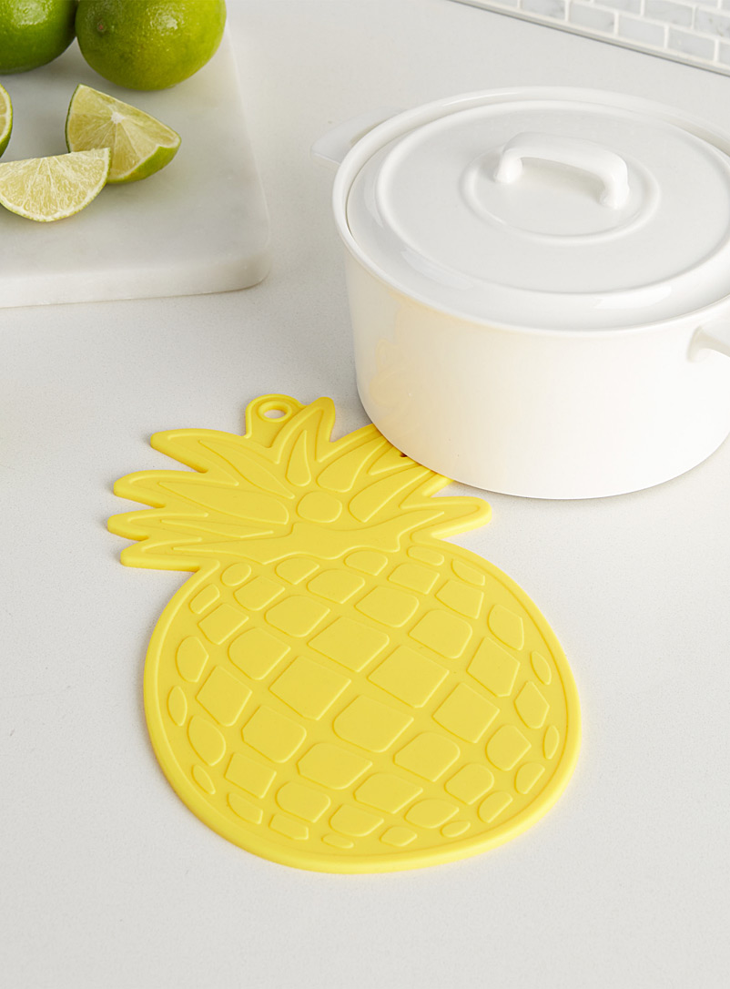 Pineapple silicone trivet - Trivets & Coasters - Medium Yellow