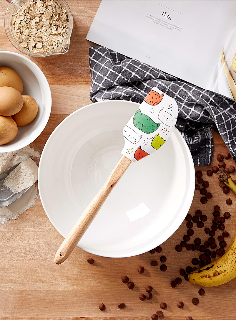 Purring kittens silicone spatula