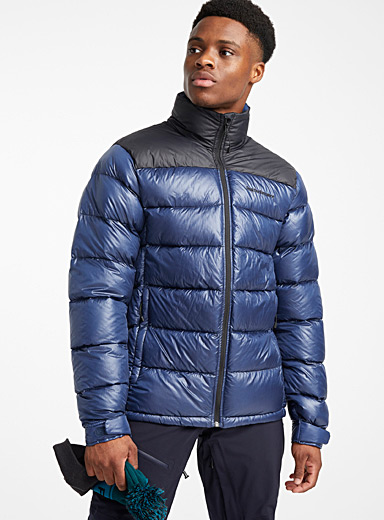 Frost blue packable puffer jacket