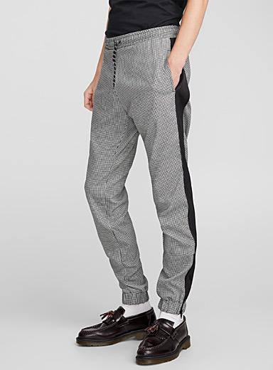 Houndstooth jogger pant