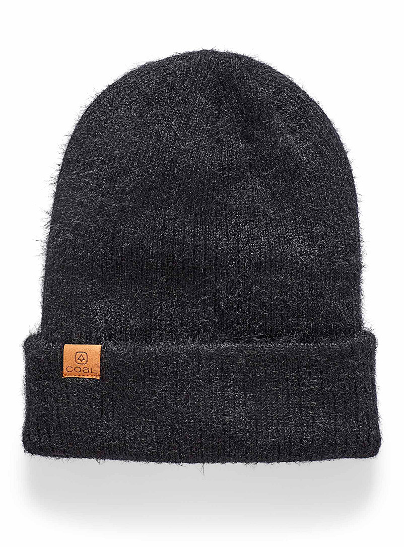 Coal Black The Pearl velvety tuque for women