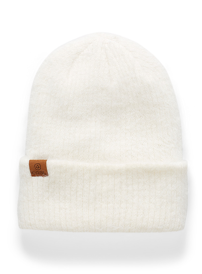 Coal Ivory White The Pearl velvety tuque for women