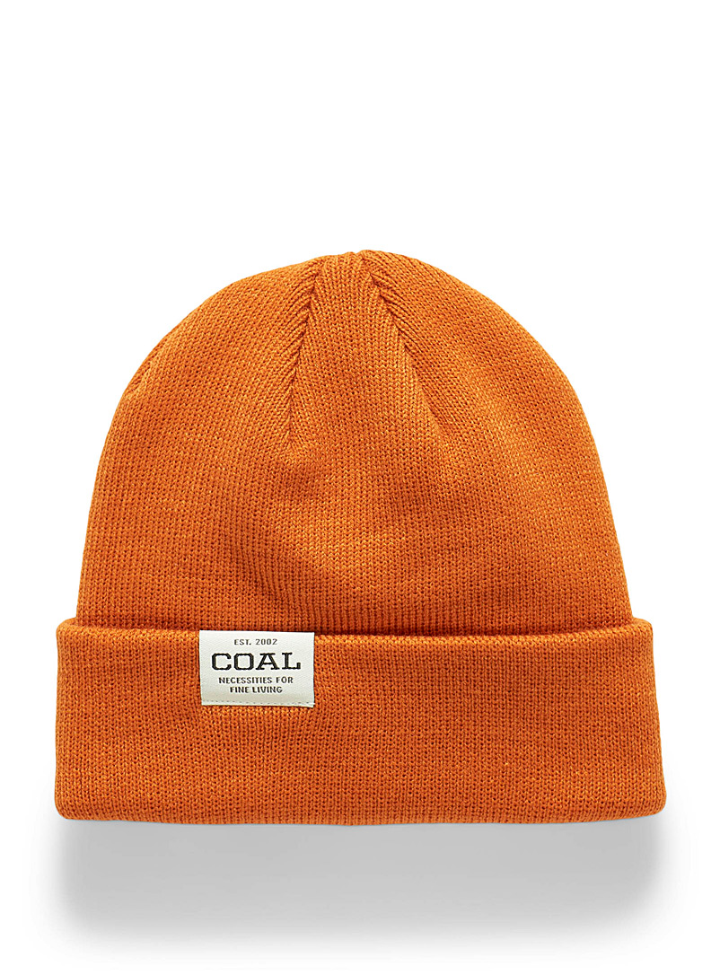 Coal Medium Orange The Uniform basic tuque for men