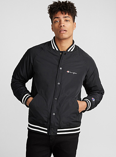 Padded baseball bomber jacket