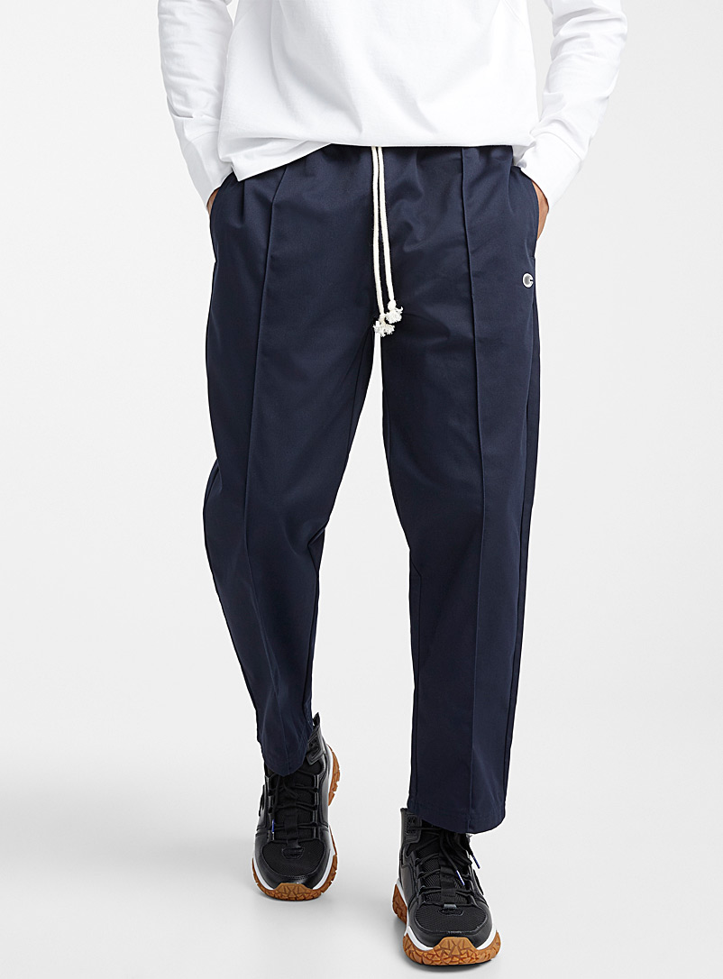 Preppy jogger pant  Loose fit - Straight fit - Marine Blue