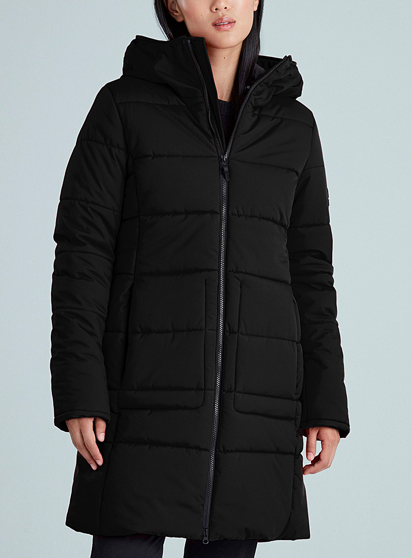 Kanuk Black Meterorite slim fit 3/4 parka for women