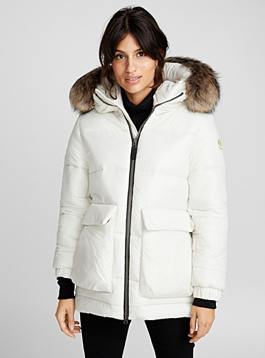 Actuelle patch pocket puffer jacket