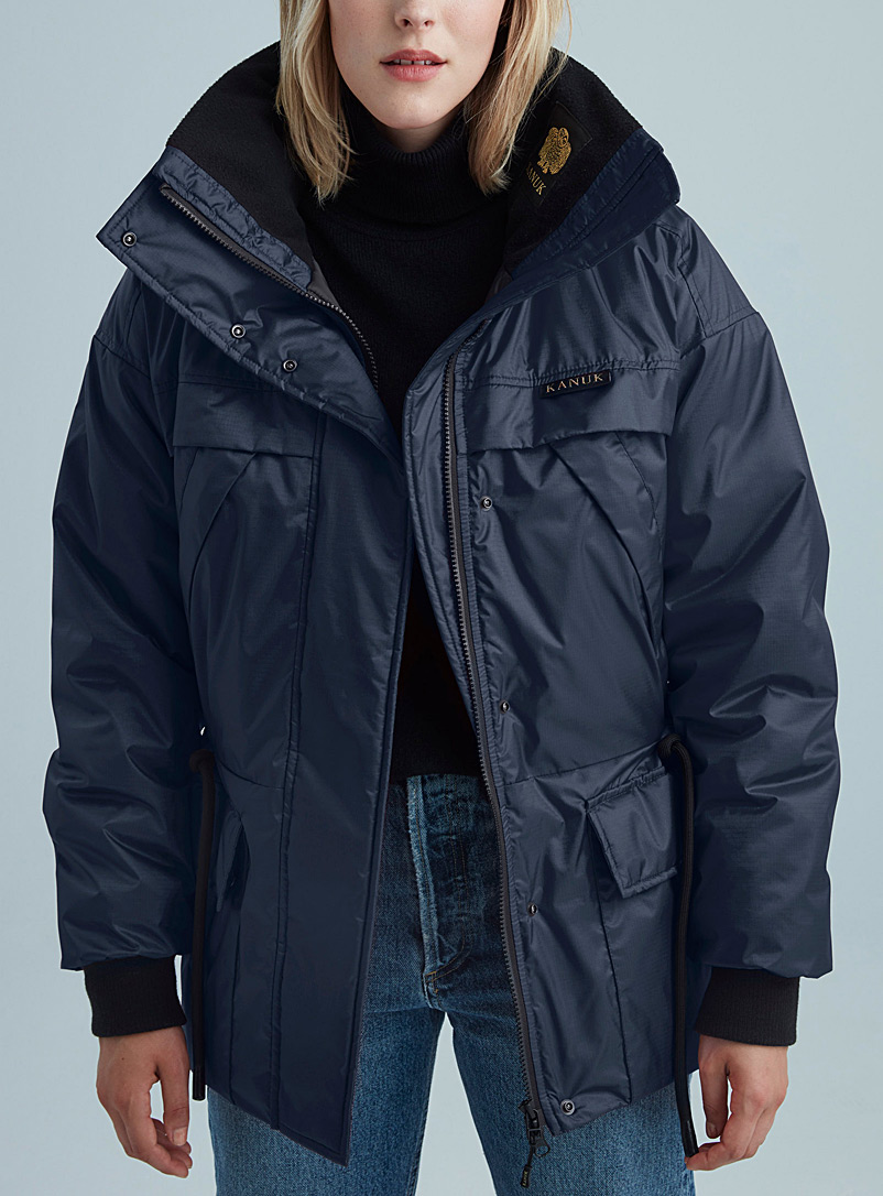 Kanuk Dark Blue Typha parka for women
