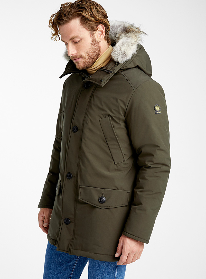 Kanuk Khaki Max parka for men
