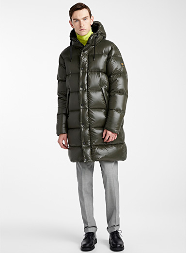 Long shiny puffer jacket