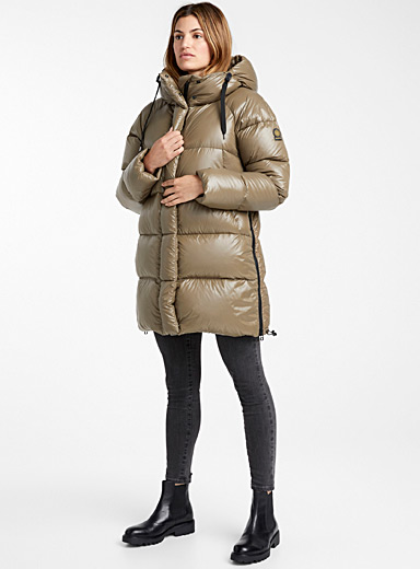 Kiruna shiny down puffer jacket