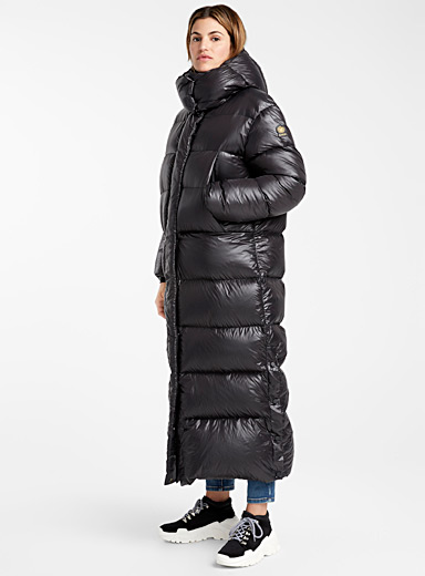 Lund shiny down maxi puffer jacket