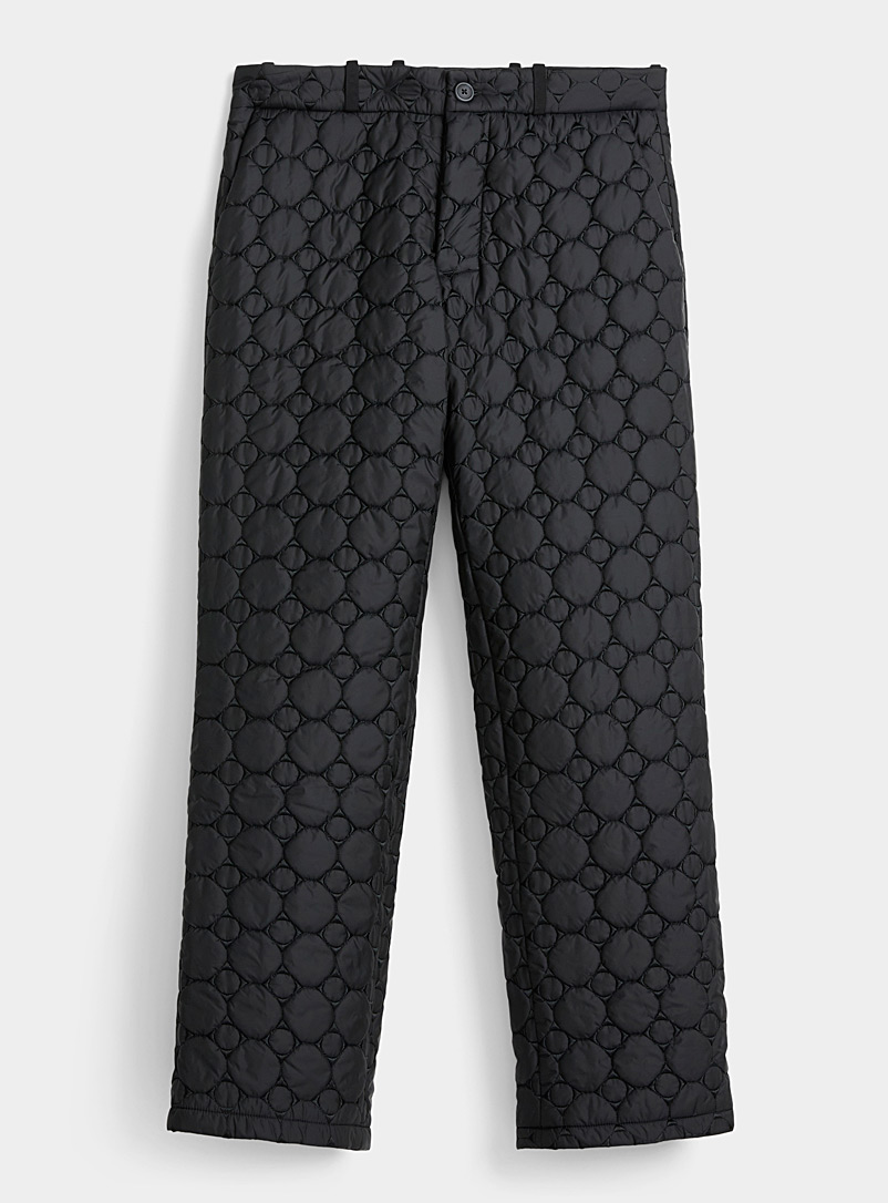 JordanLuca Black Quilted pant for men