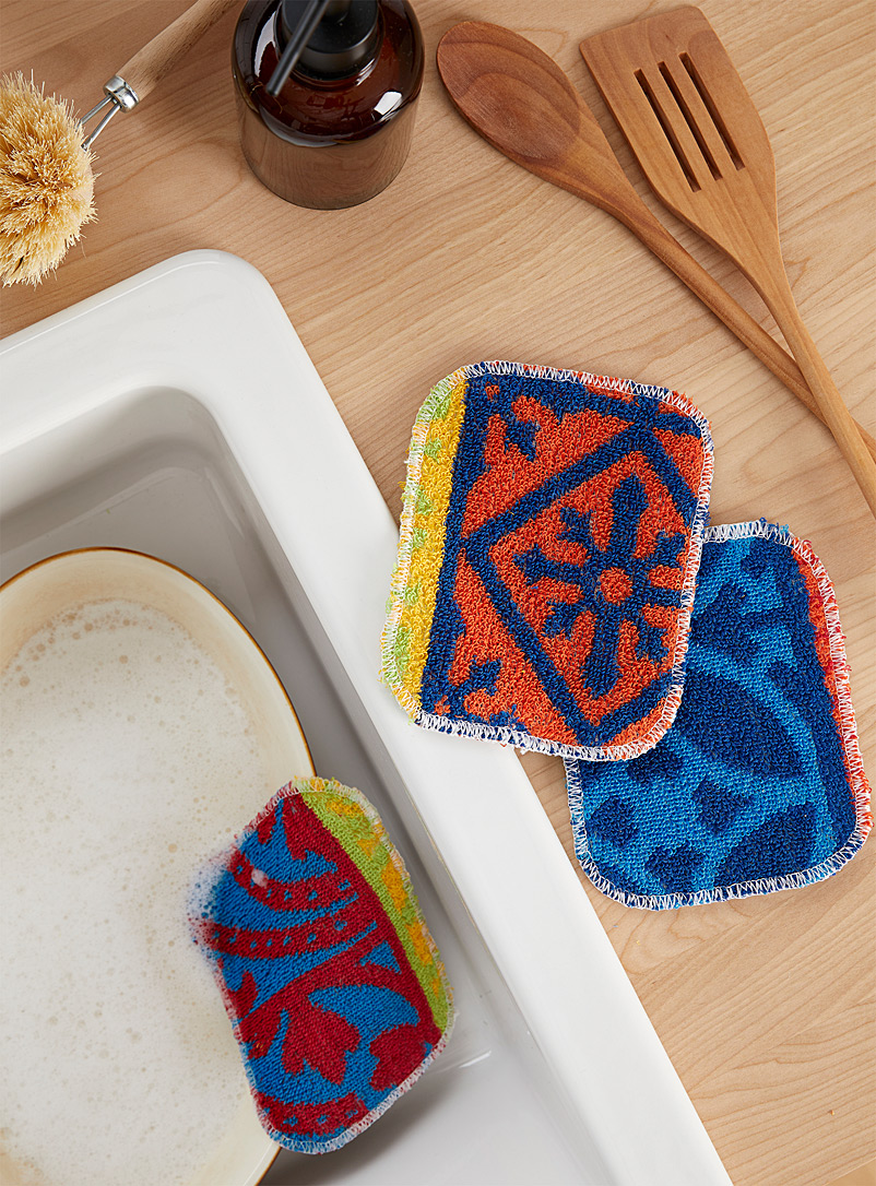 Simons Maison Assorted Funky colour scouring cloths Set of 3