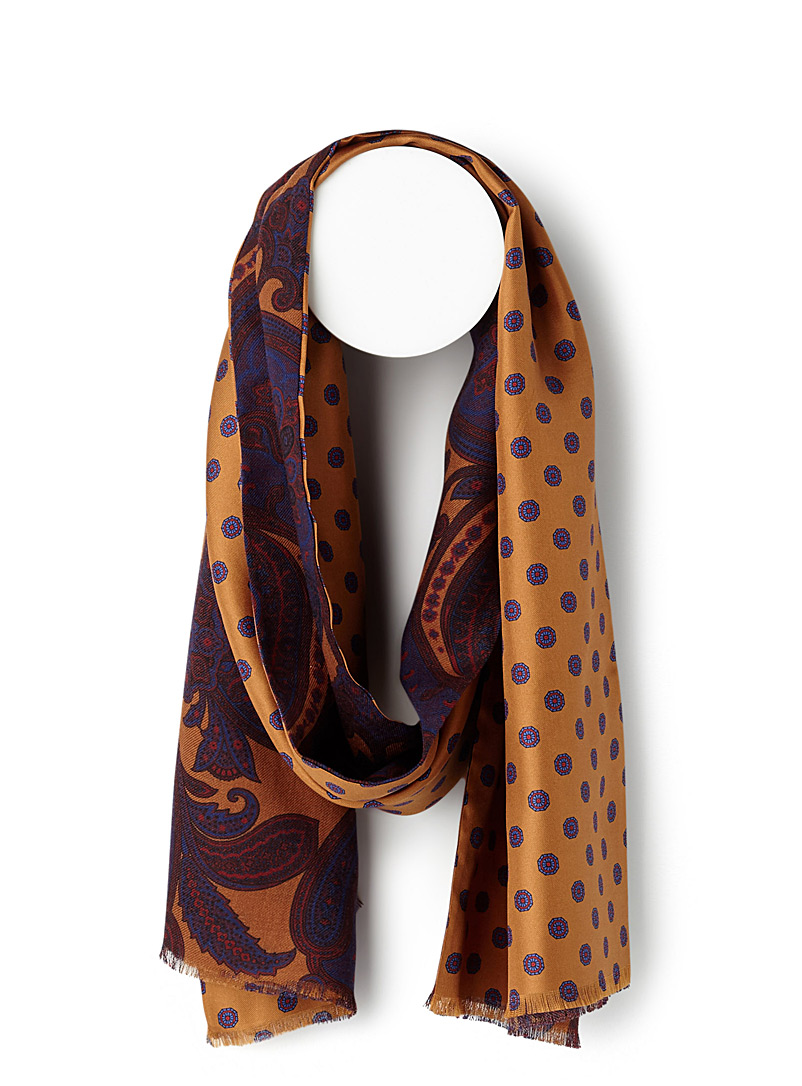 Medallion and paisley scarf - Light scarves - Medium Yellow