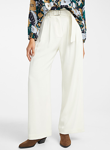 Mella belted wide-leg pant