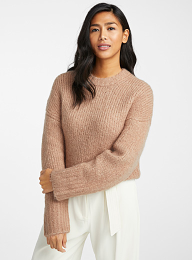 Tessa cropped ribbed sweater