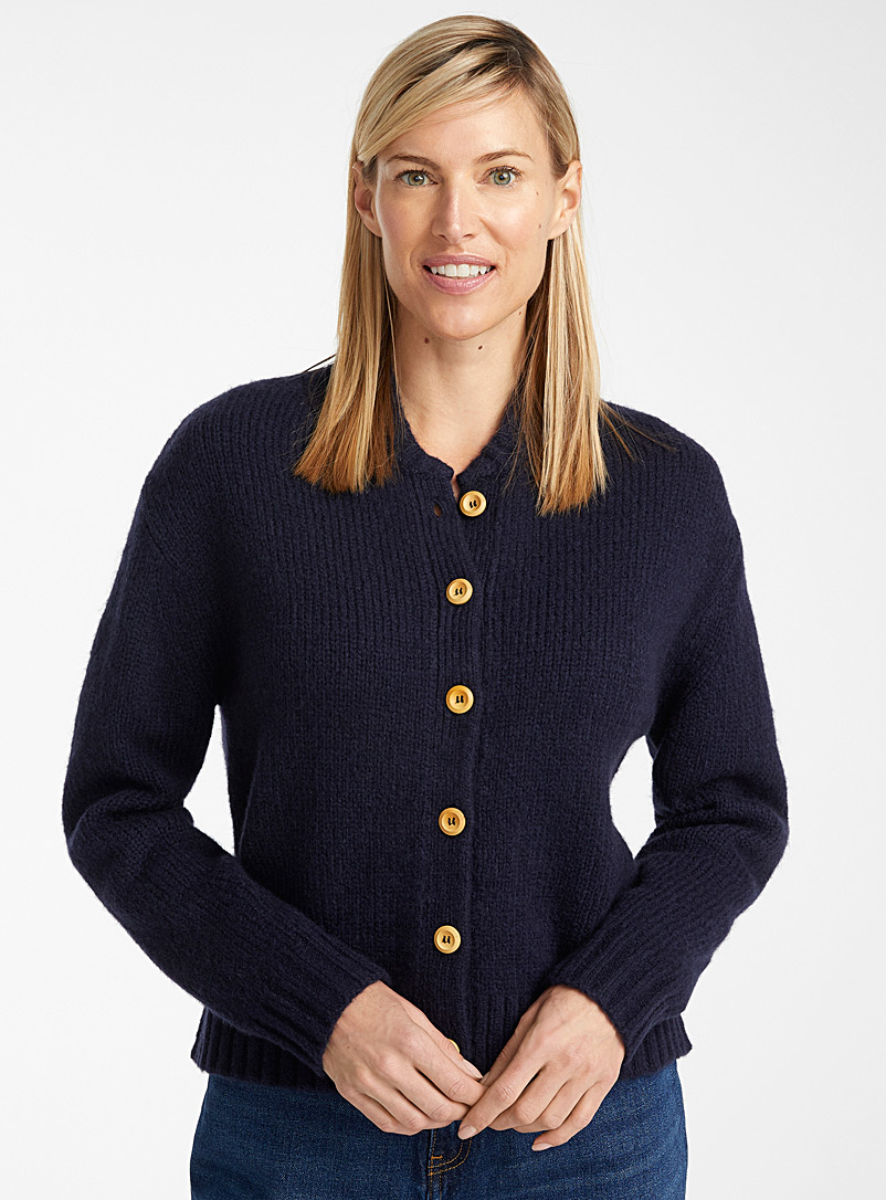 Samsøe & Samsøe Oxford Hogna wooden button cardigan for women