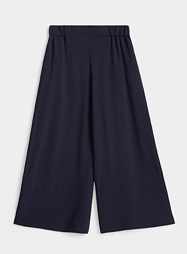Samsøe & Samsøe Dark Blue Luella fluid culottes for women