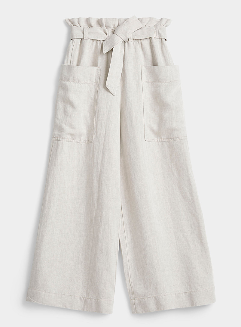 Samsoe & Samsoe White Manz pleated-waist pant for women