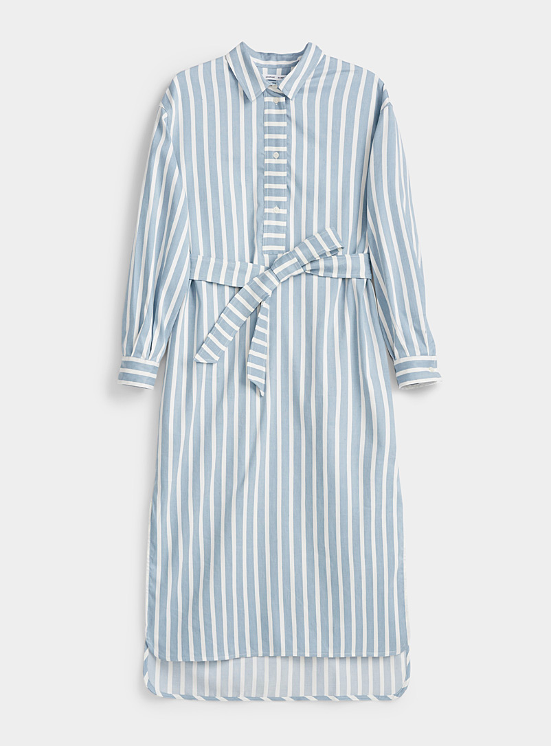Samsøe & Samsøe Patterned Blue Amara striped shirtdress for women