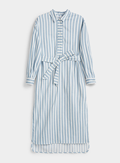 Amara striped shirtdress