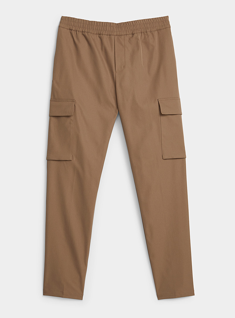 Samsøe & Samsøe Light Brown Natural earth cargo joggers  Straight, slim fit for men