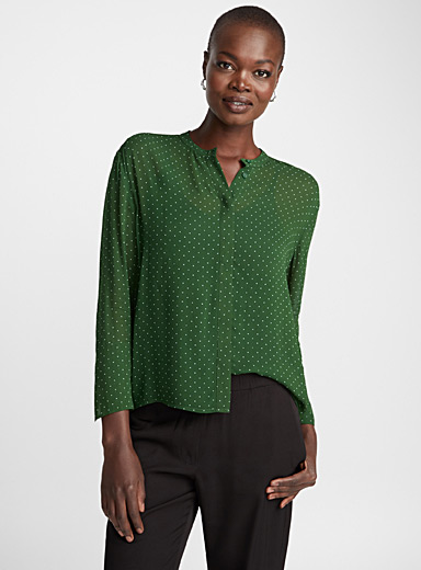 Elm speckled emerald blouse