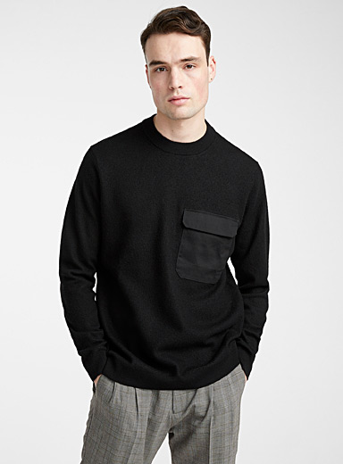 Utility monochrome sweater